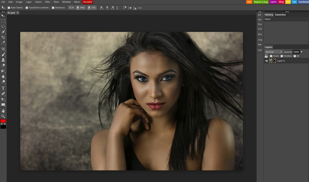 Photopea Photoshop線上網頁版 去背、濾鏡、圖層、仿製印章等都難不倒它